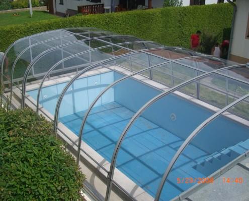 Schwimmbadüberdachung Modell c4