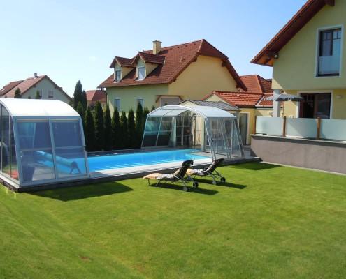 Schwimmbadueberdachung Modell c6